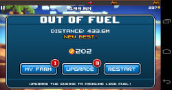 Block Roads - Out of fuel, this will happen a lot