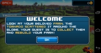 Block Roads - Welcome screen