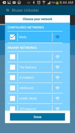 Blusec WiFi Bluetooth Unlocker - Configure WiFi