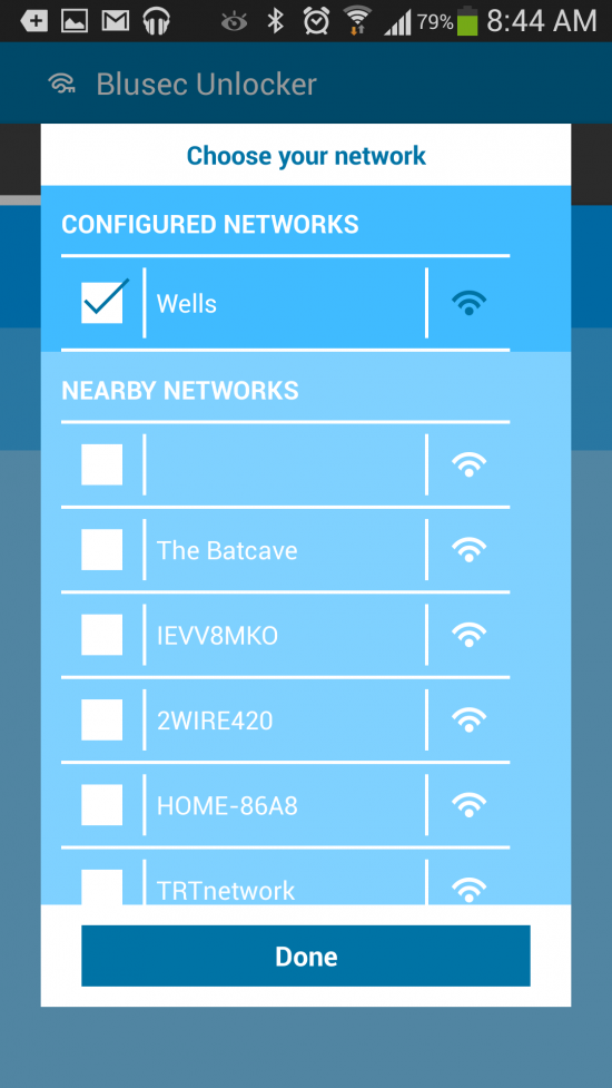 Blusec WiFi Bluetooth Unlocker – automatically turn phone security on or off based on your location