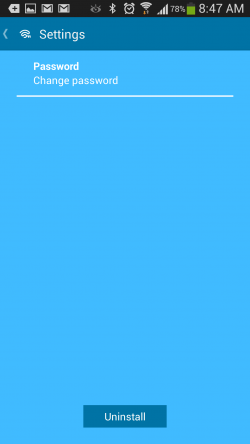 Blusec WiFi Bluetooth Unlocker - Settings