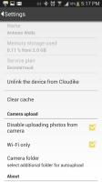 Cloudike - Settings