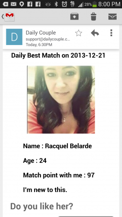 Daily Couple Mobile Dating - Email Matches