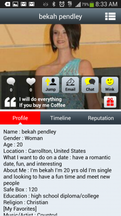 Daily Couple Mobile Dating - Users Profile