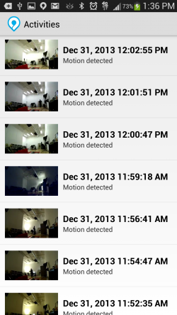 Dropcam Pro - Activities
