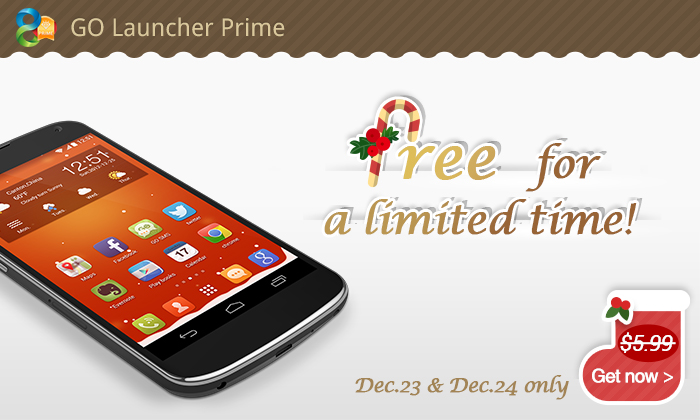 (Exclusive) Get GO Launcher Prime app free for limited time via AndroidTapp!