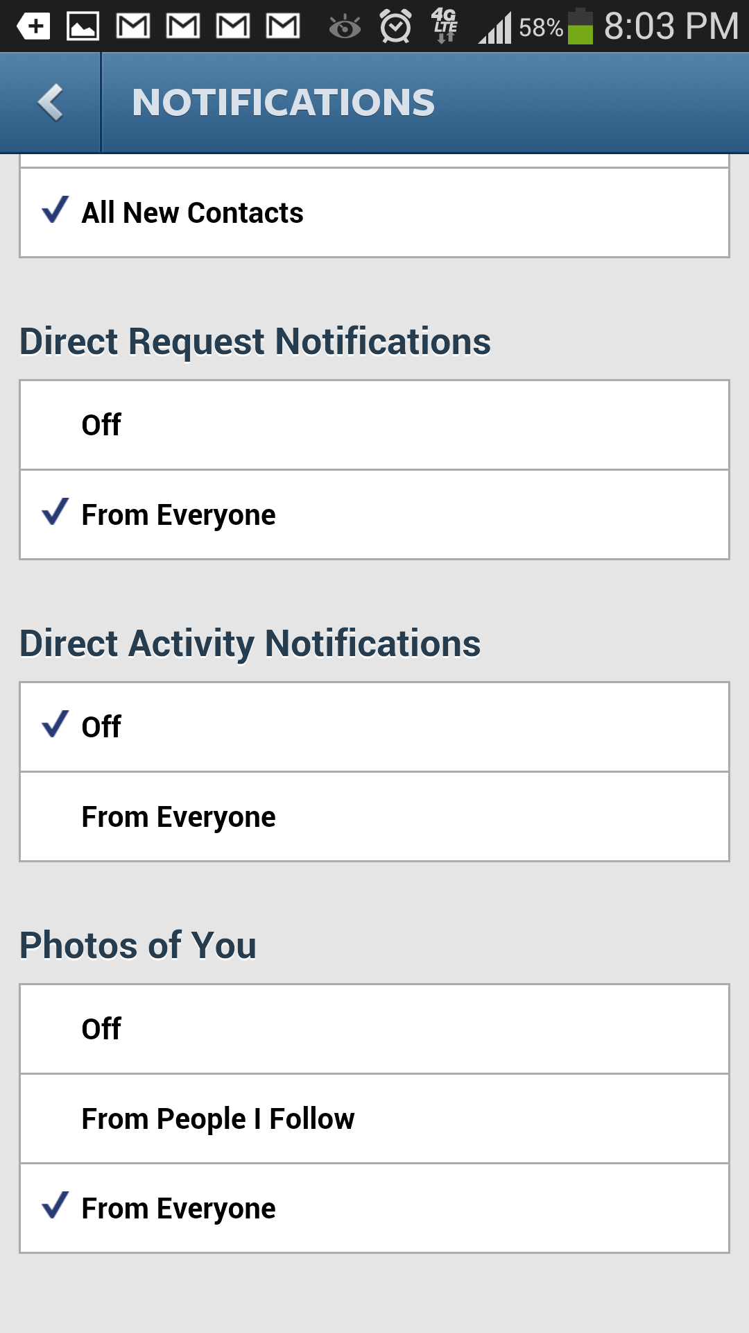 How To Disable Instagram Direct Message Notifications