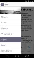 JotterPad X - Side panel menu