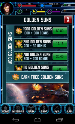 Legacy of a Thousand Suns - In app purchases galore