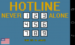 Never Alone Hotline - Start screen