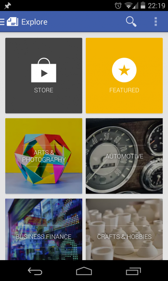 Google Play Newsstand – a mash-up of Currents, RSS Reader, newspapers & magazines