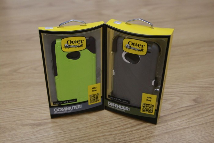 Otterbox Defender and Commuter Cases for HTC One - Side by Side