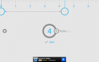 Ruler App on Tablet - Inch Measurement