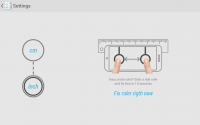 Ruler App on Tablet - Settings