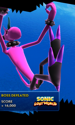 Sonic Dash - Boss defeated