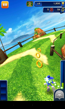 Sonic Dash - Gameplay sample (2)
