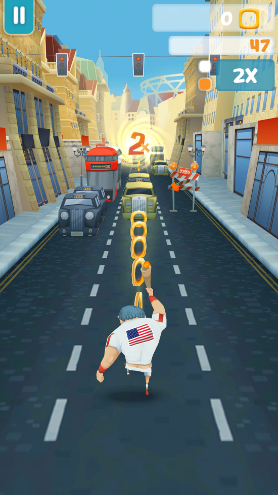 Torch Runner – play an endless runner to collect medals for your country