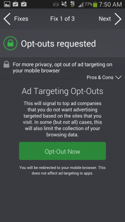 AVG Privacy Fix - Ad Targeting Opt-Outs