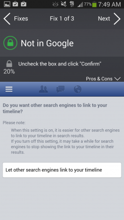 AVG Privacy Fix - Not in Google