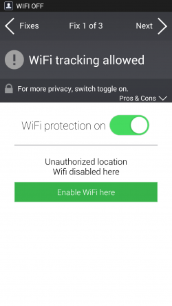 AVG Privacy Fix - WiFi Tracking