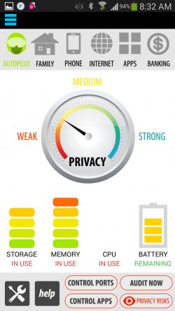 Antivirus Privacy Firewall - Dashboard
