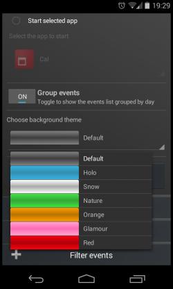 Clean Calendar Widget - Design options