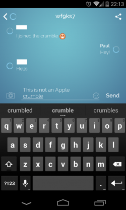 Crumble Messenger - Spot the countdown timers