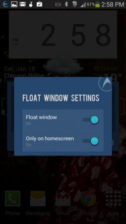 DU Speed Booster - Floating Window Settings