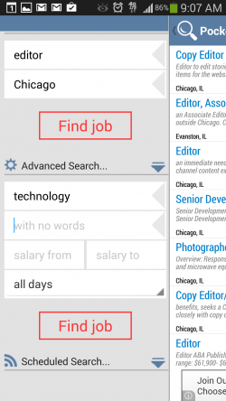Indeed Job Search - Advanced Search