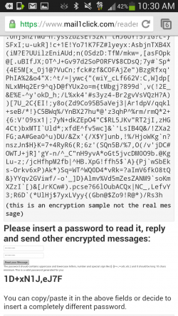 Mail1Click - Encrypted Email Web Login