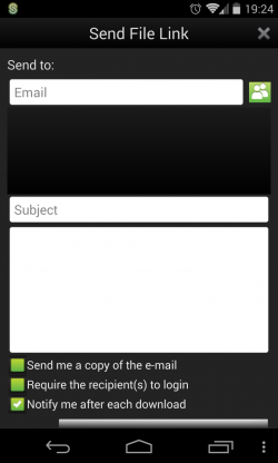 ShareFile - Send file link