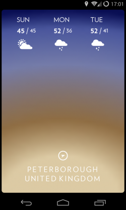 Solar - Swipe down for forecast