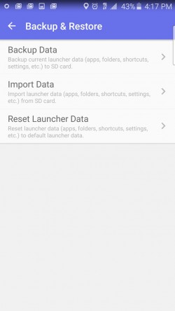Solo Launcher - Backup and Restore Settings