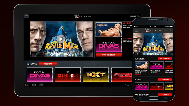 WWE Network launches streaming video app