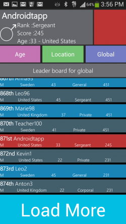 WordWarX - Leaderboards