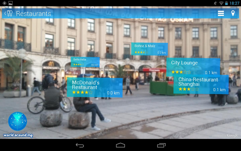 World around me app Android award winner app