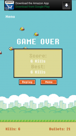 Shoot That Bird - Game Over