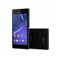 Sony Xperia M2 - Front and Back in Black