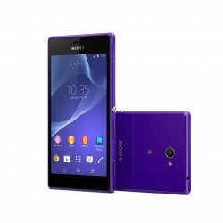 Sony Xperia M2 - Front and Back in Purple