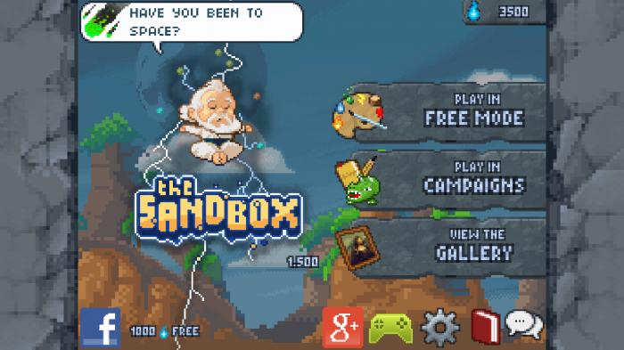 The Sandbox – play a fantastic 8-bit retro world builder game!