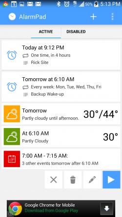AlarmPad - Alarms