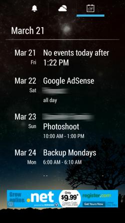 AlarmPad - Calendar