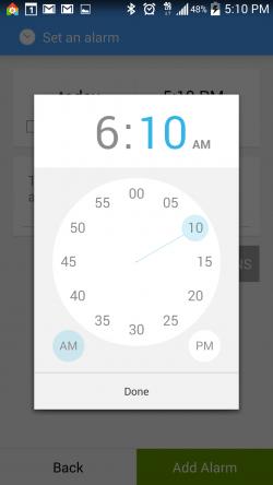 AlarmPad - Set Alarm Time