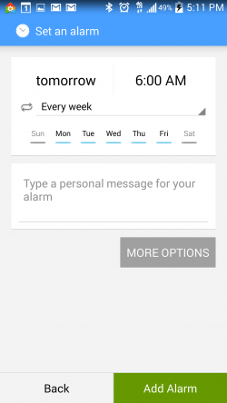 AlarmPad - Set Days