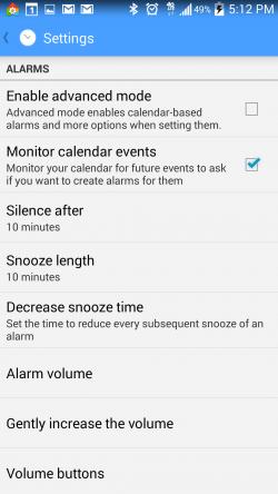 AlarmPad - Settings