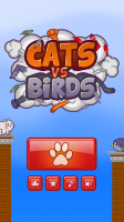 Cats Vs Birds - Start Screen