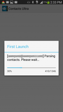 Contacts Ultra - First Launch Contacts Parsing