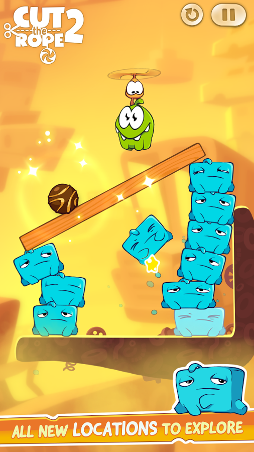 Cut the Rope 2 now available on Google Play