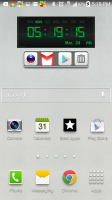 Digital Clock Widget and Tools - on Home Screen