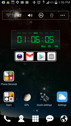 Digital Clock Widget and Tools - on Home Screen 2